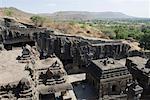 Old ruins of a temple, Kailash Temple, Ellora, Aurangabad, Maharashtra, India