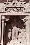 Sculptures in a cave, Ellora, Aurangabad, Maharashtra, India