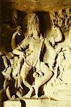 Statues in a cave, Ellora, Aurangabad, Maharashtra, India