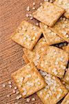 Erhöhte Ansicht Kekse mit Zucker-Bonbons