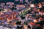 Vieille ville de Dubrovnik, au crépuscule, Croatie