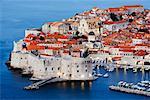 Altstadt von Dubrovnik im Morgengrauen, Kroatien