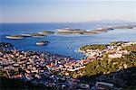 Ville de Hvar, à l'aube, Hvar, Croatie