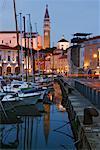 Town of Piran at Dusk, Slovenia