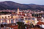 Ville de Trogir, au crépuscule, Croatie