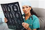 Doctor Examining X-rays