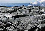 Patterns in Pahoehoe lava, Big Island, Hawaii