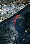 Flowing molten lava, Hawaii