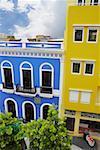 Buildings along a road, Old San Juan, San Juan, Puerto Rico