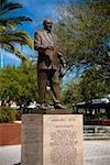 Statue on a pedestal, Ybor City, Tampa, Florida, USA