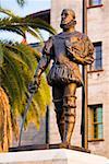 Close-up of a statue, Don Pedro Menendez De Aviles, St. Augustine Florida, USA
