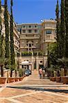 Trees in front of a building, Monte Carlo, Monaco