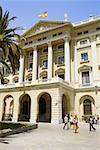 Facade of a government building, Barcelona, Spain