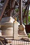 Golden statue near a tower, Eiffel Tower, Paris, France