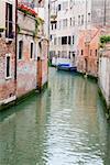 Buildings along a canal, Venice, Italy