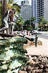 Buildings in a city, Waikiki Beach, Honolulu, Oahu, Hawaii Islands, USA
