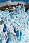 Glaciers in front of a mountain, Moreno Glacier, Argentine Glaciers National Park, Lake Argentino, El Calafate, Patagonia