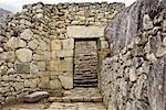 Old ruins of a building, Machu Picchu, Cusco Region, Peru