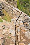 High angle view of an old canal, Choquequirao, Inca, Cusco Region, Peru