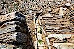 Stones in a rocky canal, Choquequirao, Inca, Cusco Region, Peru