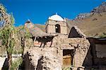 Low angle view of a church, Malata, Arequipa, Peru