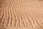 High angle view of a plowed field Puno, Peru