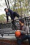 Teenagers With Basketball