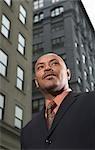 Businessman in City, New York City, New York, USA