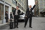 Les hommes d'affaires venus de Taxi, New York City, New York, USA