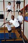 Enfants dans la classe de Gym