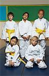 Portrait of Karate Class