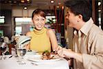 Paar im Restaurant, Restaurants