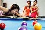 Women playing snooker