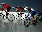 Cycling race on velodrome track
