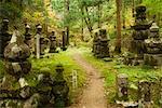 Denkmäler im Friedhof, Kansai, Honshu, Japan