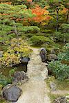 Jardin au Temple Ginkaku-ji, Kansai, Kyoto, Honshu, Japon