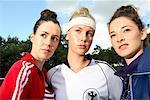 Porträt von Frauen in Sportbekleidung