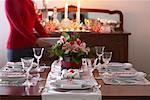 Table Set for Christmas Dinner