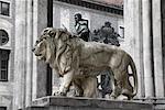 Lion Statue, Odeonsplatz, Munich, Allemagne