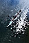 Ruderer auf dem Fluss Trent