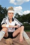 Porträt von Fußball-Nationalspieler, Gelsenkirchen, Deutschland