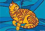 Abbildung der Katze