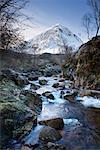 Fluss in Schottland, Gully, Glen Etive
