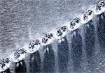 Small diamonds in row