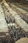 Guerriers en terre cuite, Xian, Chine