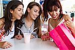Girls Looking into Shopping Bag