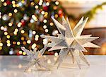 Gros plan des décorations de Noël