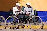 Men on Bench with Bicycles, Tonantzintla, Mexico