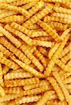 Crinkle Cut French Fries (Full Frame)