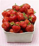 Fresh strawberries in punnet